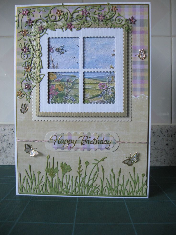 Picture and paper from A Walk In The Countryside CD and Tattered Lace dies