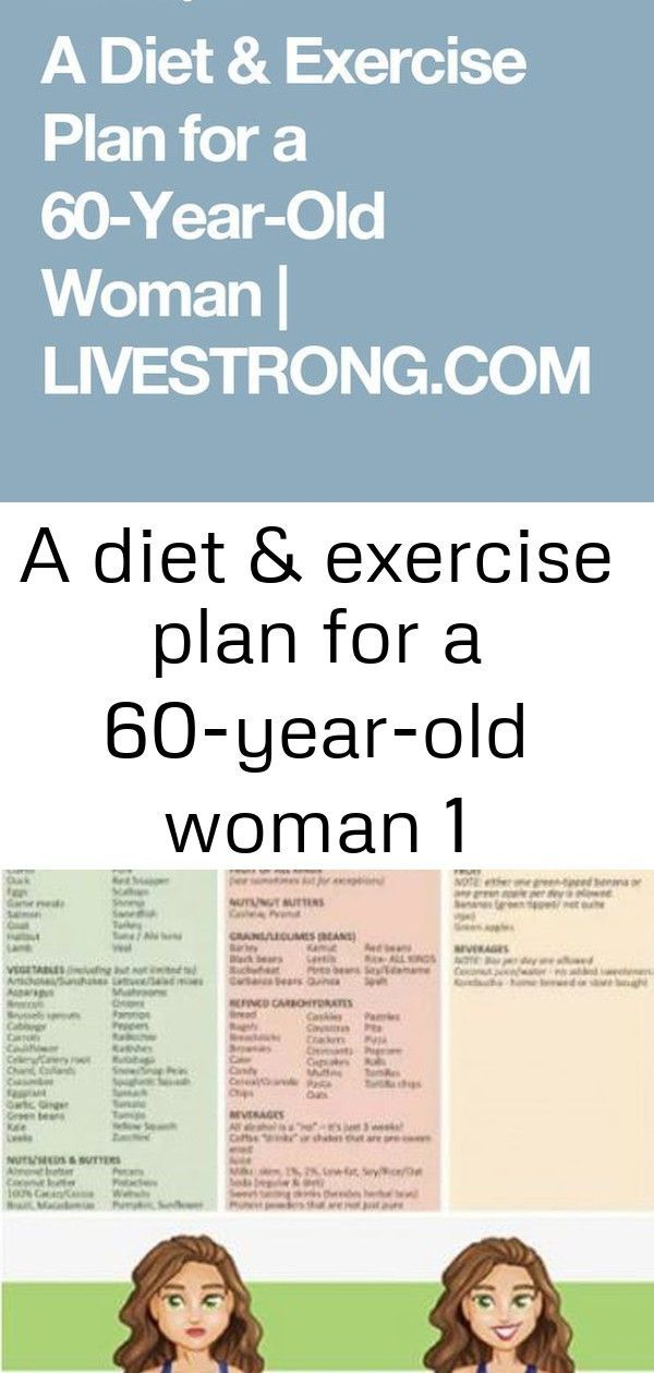 diet and exercise plan for women 60 yrs