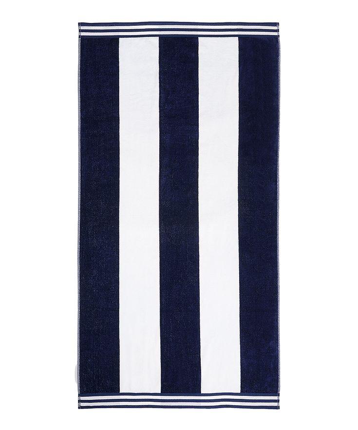 Blue Cabana Stripe Oversized Beach Towel