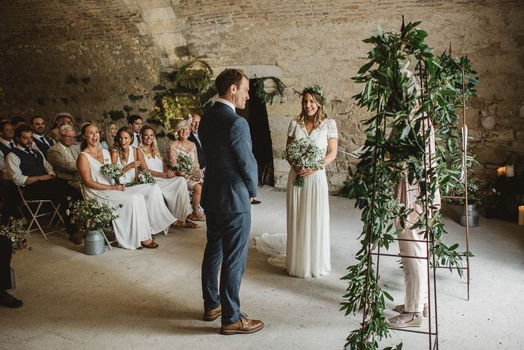 Rustic French Wedding With Elegant And Minimal Styling By Another Story Studio With Bride In Laure De Sagazan The Mews Notting Hill Images by Darek Smietana