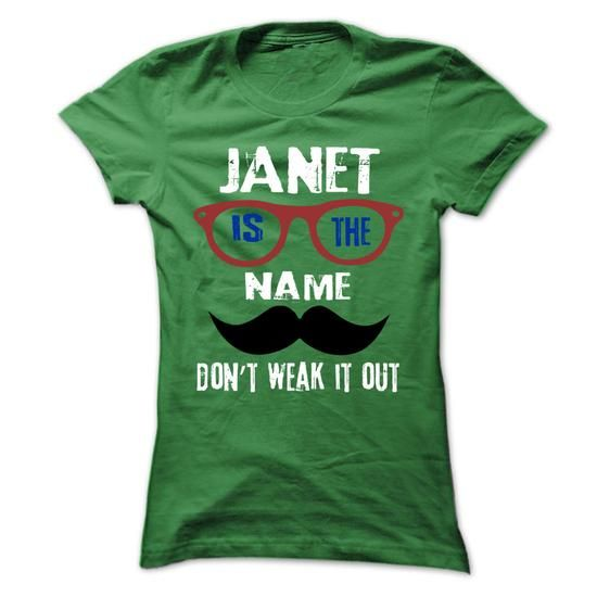 JANET Is The Name - 999 Cool Name Shirt ! - #gifts for guys #mason jar gift. BUY IT => https://www.sunfrog.com/Outdoor/JANET-Is-The-Name--999-Cool-Name-Shirt-.html?68278