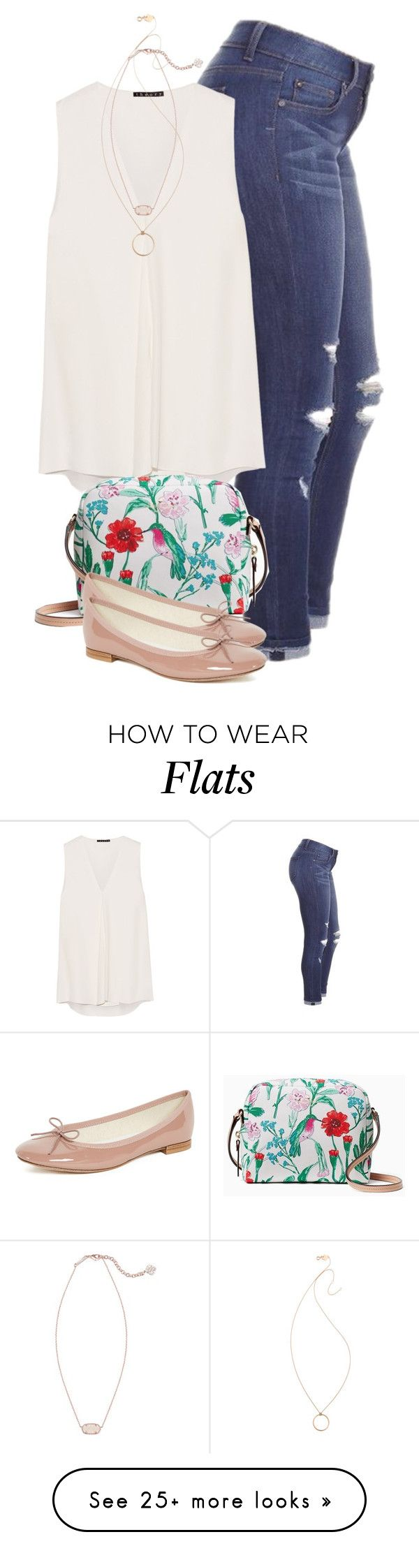 """""""Untitled #1438"""" by florabias on Polyvore featuring Theory, Kate Spade, Ginette NY, Kendra Scott and Repetto"""
