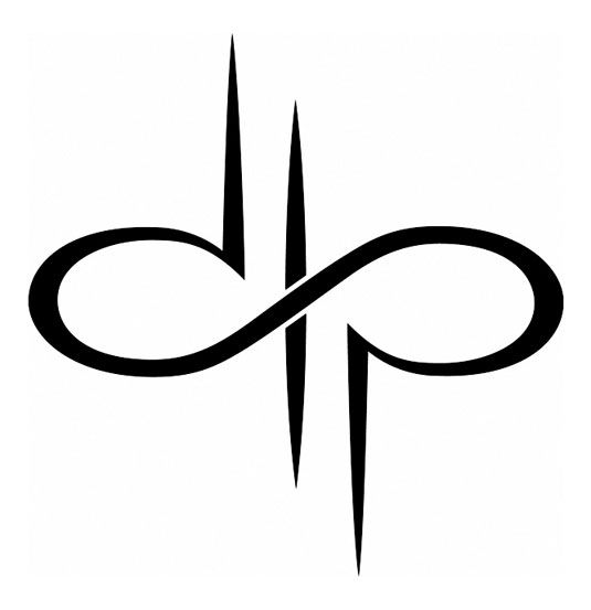 Combining two of my favorite things:  music and logo design.  The pin is Devin Townsend Project's logo