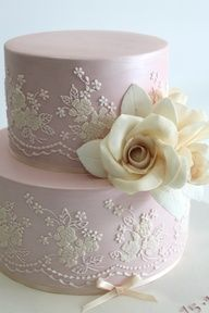 Vintage lace cake by Faye Cahill Cake Design #wedding #Cakes
