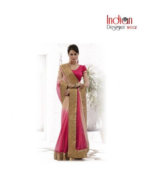 Honeybunch Bright Pink Saree