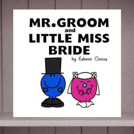 Mr Groom and Miss Bride Wedding Card