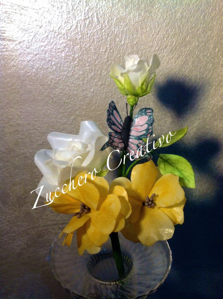 Wafer Paper flowers & butterfly