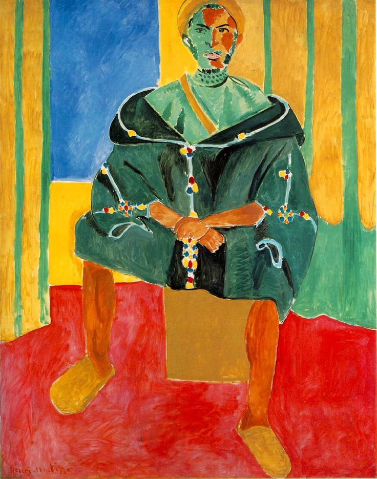 Henri Matisse - Seated Riffian, 1912-1913, oil on canvas