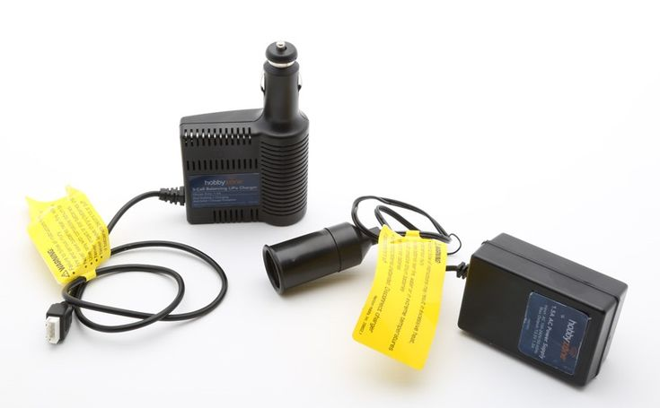Power supply units and chargers sold with the model aircraft can overcharge the battery.