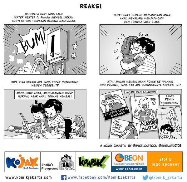 Reaksi by @sheilaro2105 #KomikJakarta https://t.co/ocLAzhP4vV