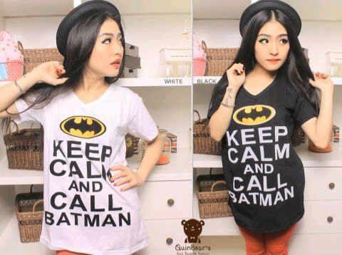 Keep calm batman | Rp 65.000 | Bahan kaos | Fit to L besar