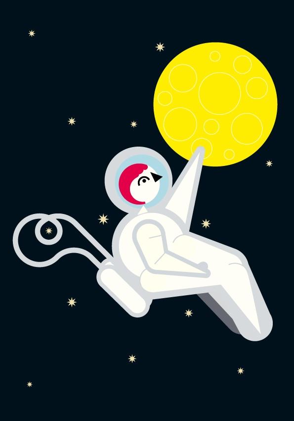 cosmonaut  Mommy  Aa/A3 splendorgel extra white 300 gr  Laserprint  #RL2