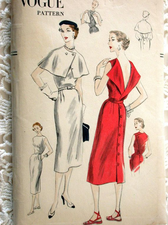 Vogue Dress Pattern No 7402 Vintage 1950s Size by CaliforniaSunset, $12.00