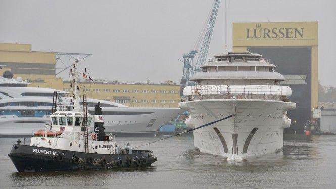 130m+ mega yacht by Lurssen