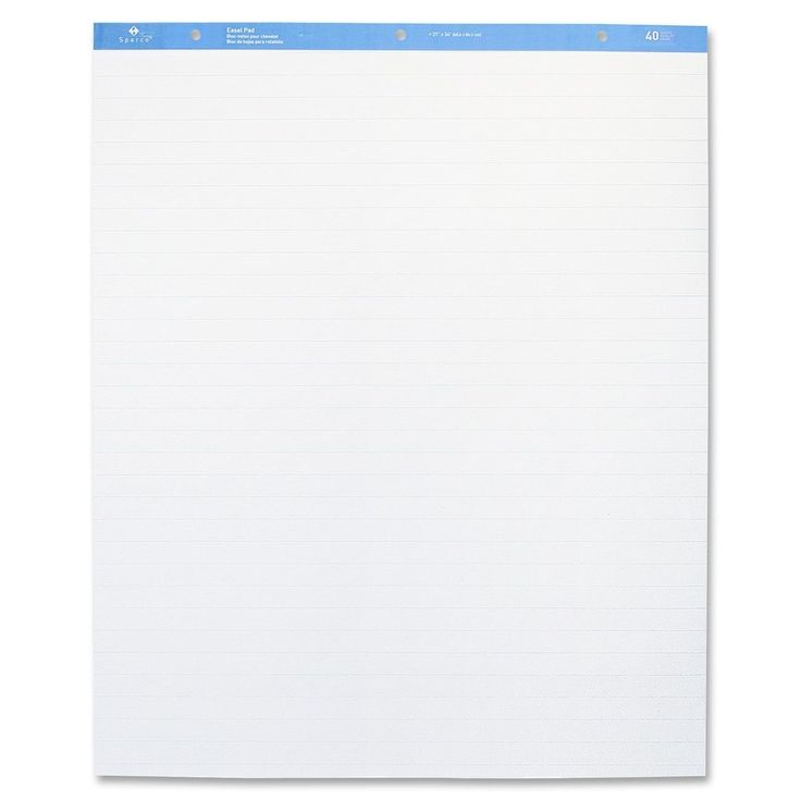Sparco Standard Ruled Easel Pad -