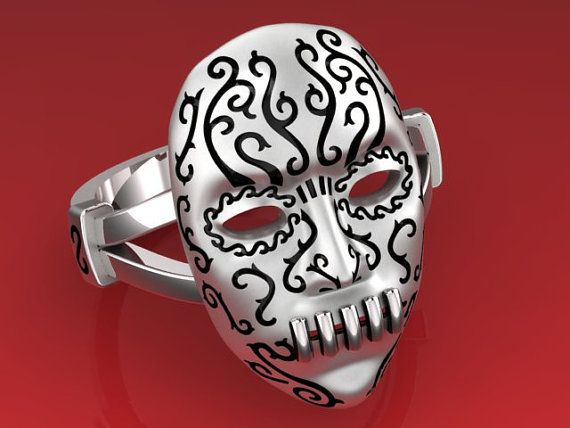 Harry Potter Bellatrix Lestrange Mask Ring Death by SakoJewelry