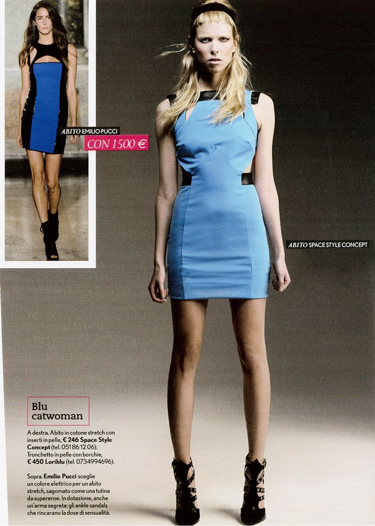 Blue Stretch Dress Space Style Concept Spring-Summer 2014 on TuStyle