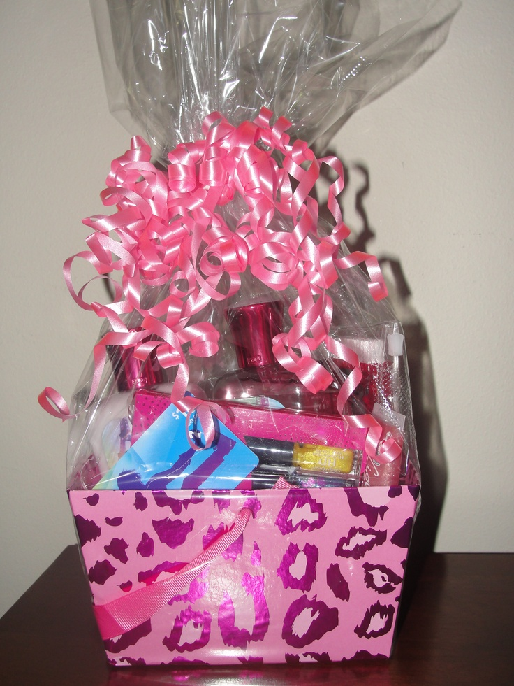 14 best teen girl gift baskets images on pinterest girl gift teen bday gift basket itunes giftcard lotion candy nail polish lip negle Gallery
