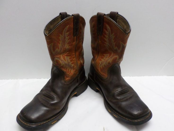 Ariat Youth Workhog Square Toe Children's Work Boot Dark Earth 10007837 SZ 1.5 #Ariat #Boots