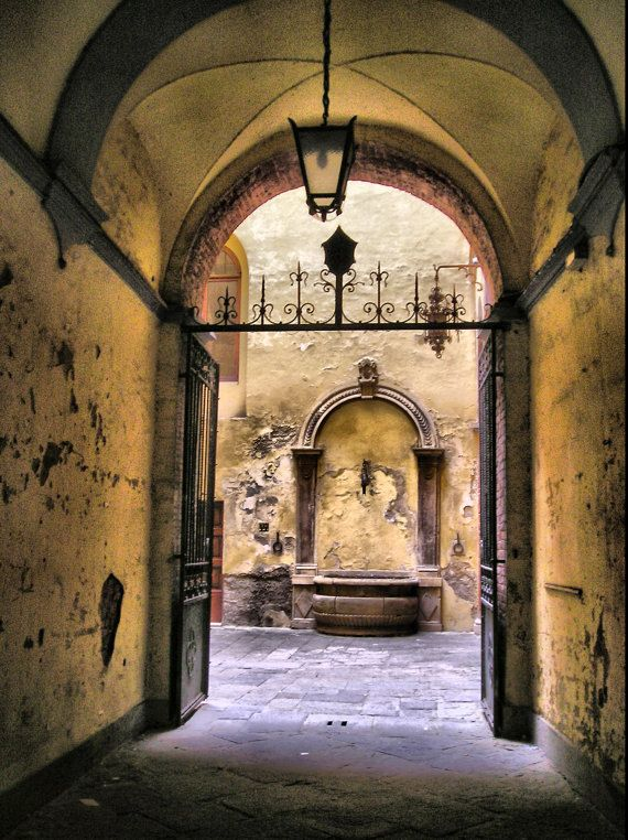 Fountain in Courtyard - Siena, Italy, more beautiful than you imagine it....