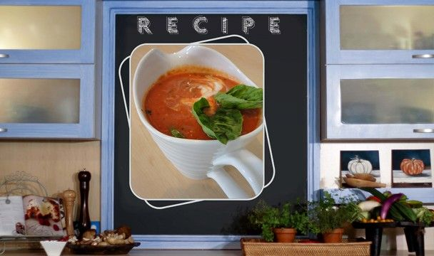 Food in a Flash Season 1 Epsiode 6 - Quick Creamy Tomato Soup    Recipe available from http://www.sharonglass.co.za/uploads/menus/01-201252020544.pdf #cooking #meals #quickmeals #foodinaflash #sharonglass #dinner #lunch #soup #tomato #creamy