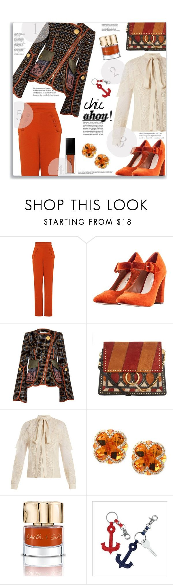 """""""Chic Ahoy !!"""" by jckallan ❤ liked on Polyvore featuring Finders Keepers, Nasty Gal, Peter Pilotto, Chloé, Elie Saab, Effy Jewelry, Smith & Cult, Mark & Graham, contestentry and SailorPants"""