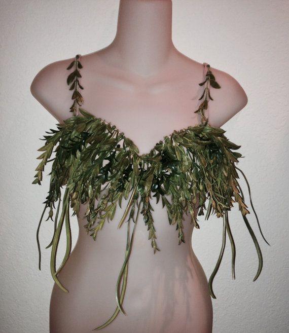 Sirène personnalisé fée algues Bra Top par BlueMerDesigns sur Etsy