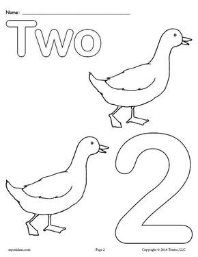 Free Printable Animal Number Coloring Pages Numbers 1 10 Math