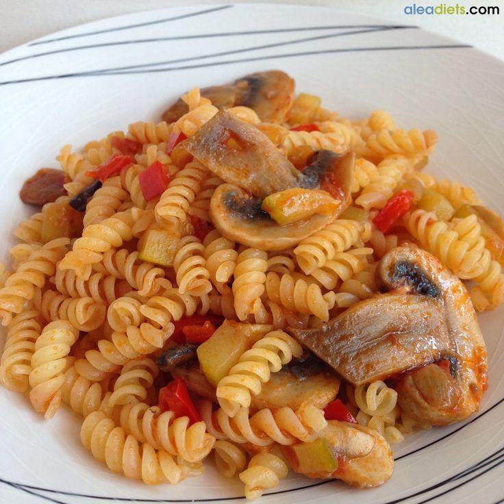 La dieta ALEA -  blog de nutrición y dietética, trucos para adelgazar, recetas para adelgazar: Espirales con salsa especial
