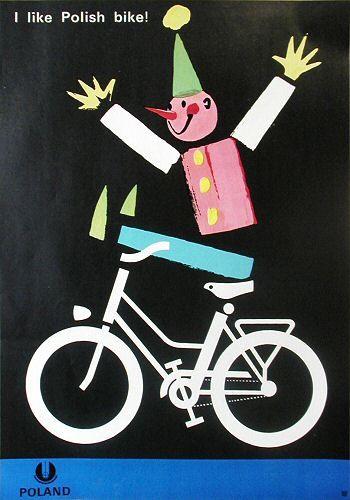 """I like Polish bike!"", 1966, by Witold Janowski"