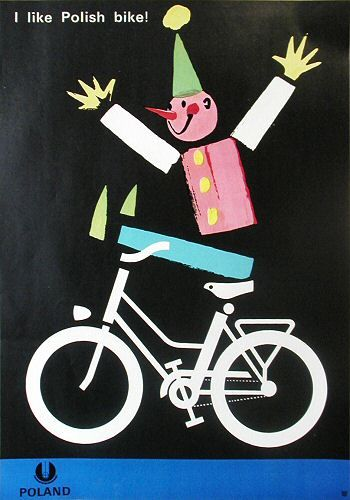 """I like Polish bike!"", 1966, by Witold Janowski"