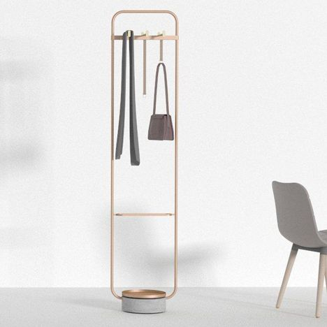 Neri&Hu designed these compact metal coat stands for Offecct
