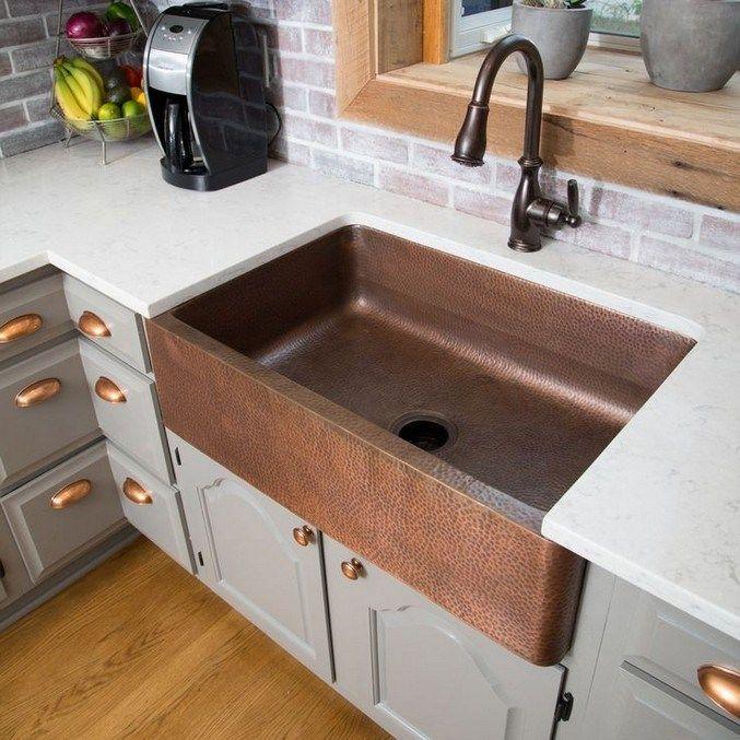 Best Farmhouse Kitchen Design Ideas 2019 51 In 2020 Copper
