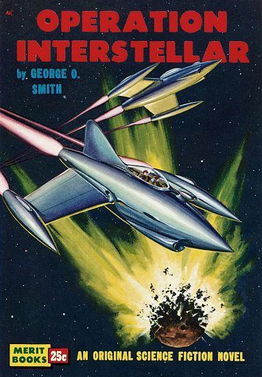 Vintage Sci Fi Poster Operation Interstellar