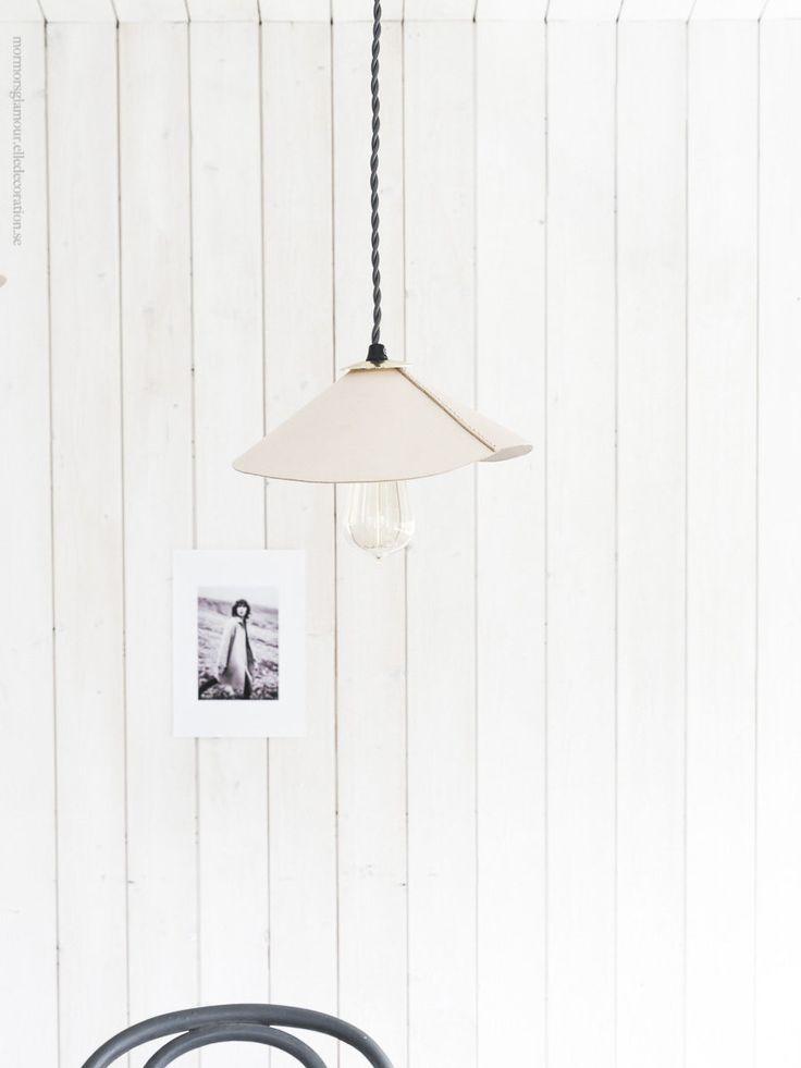 DIY leather lamp/ diy skomakarlampa lader