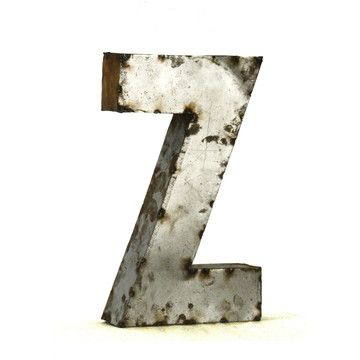 Metal Letter Z Small, $99, now featured on Fab.