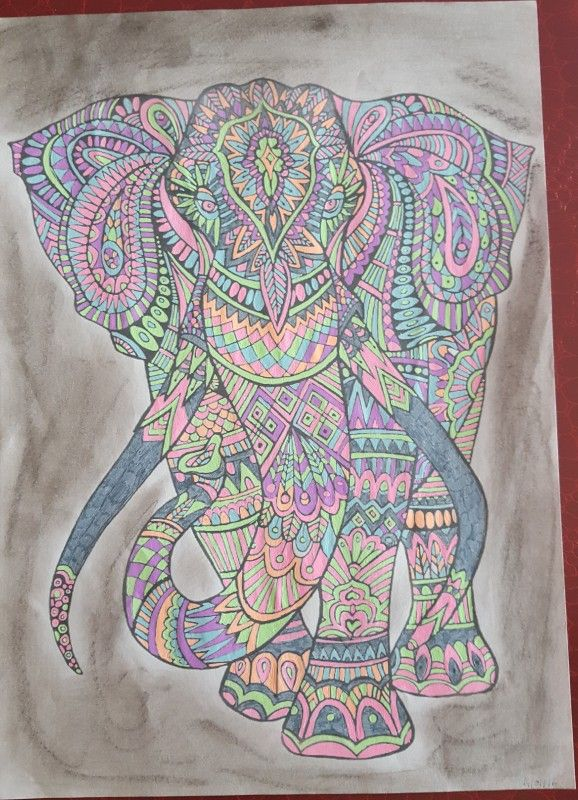 Creation by mimi17, coloring page from the gallery Animals