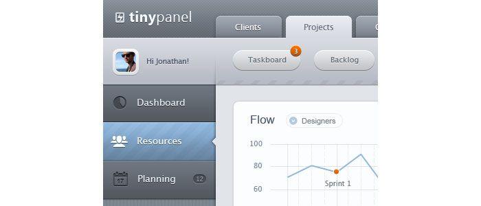 Mobile admin dashboard - iPad - UI/UX/iOS User Interface Design Inspiration