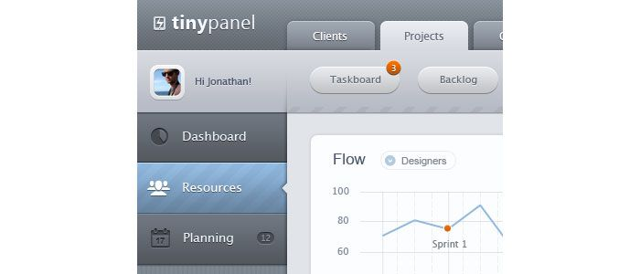 Mobile admin dashboard - iPad - UI/UX/iOS User Interface Design Inspiration