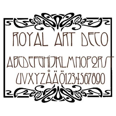 Royal Art Deco font