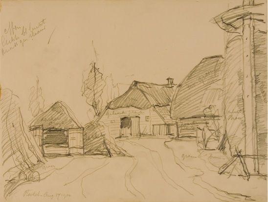 Boerderij in Roekel, gemeente Ede, getekend in 1900 door Sientje Mesdag van…