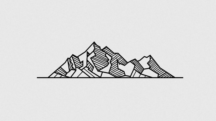 geometric tattoo design mountains