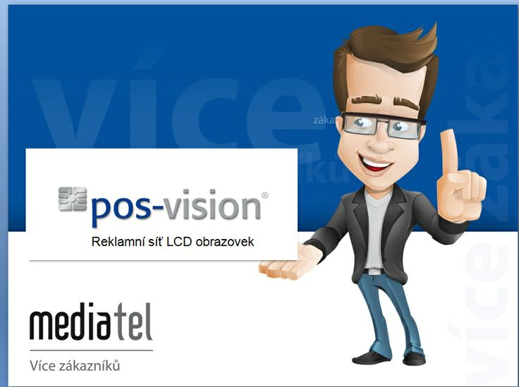 MEDIATEL BUDUJE NOVOU MEDIÁLNÍ SÍŤ. Efektivní a moderní způsob propagace dostupný i pro malé a střední podnikatele. Společnost #MEDIATEL navázala spolupráci s německou firmou #posvision, která je provozovatelem jedinečné mediální sítě pos-vision. Nově tak přináší zákazníkům možnost nadčasové prezentace vlastního podnikání. Systém pos-vision je síť #LCD obrazovek, která umožňuje uživatelům efektivně a hlavně snadno a rychle prezentovat svoje produkty či služby.