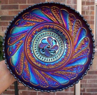 Dugan Electric Purple Amethyst Carnival Glass Bowl                                                                                                                                                                                 More