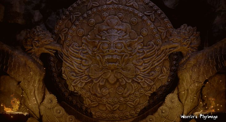 Warrior's Pilgrimage Cave Area, Arif Pribadi on ArtStation at https://www.artstation.com/artwork/AyJm5
