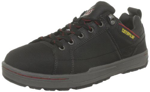 Caterpillar CAT Footwear Mens Brode S1p Black Smooth Safety Boot P716164 6 UK The Brode: for the guy who needs a work boot, but wants anything but. Looks like a sneaker, built with all of the safety features of a work boot.andlt
