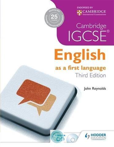 Cambridge IGCSE English First Language 3rd Edition + CD