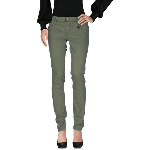 Boss Orange Casual Trouser (145,690 KRW) ❤ liked on Polyvore featuring pants, military green, white trousers, army green pants, olive pants, green camo pants and zipper pants