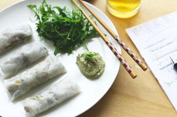 Bubble Child: #Vegan Spring Rolls with Nut-Free Thai 'Peanut' Sauce (#GlutenFree) | Vegan Miam