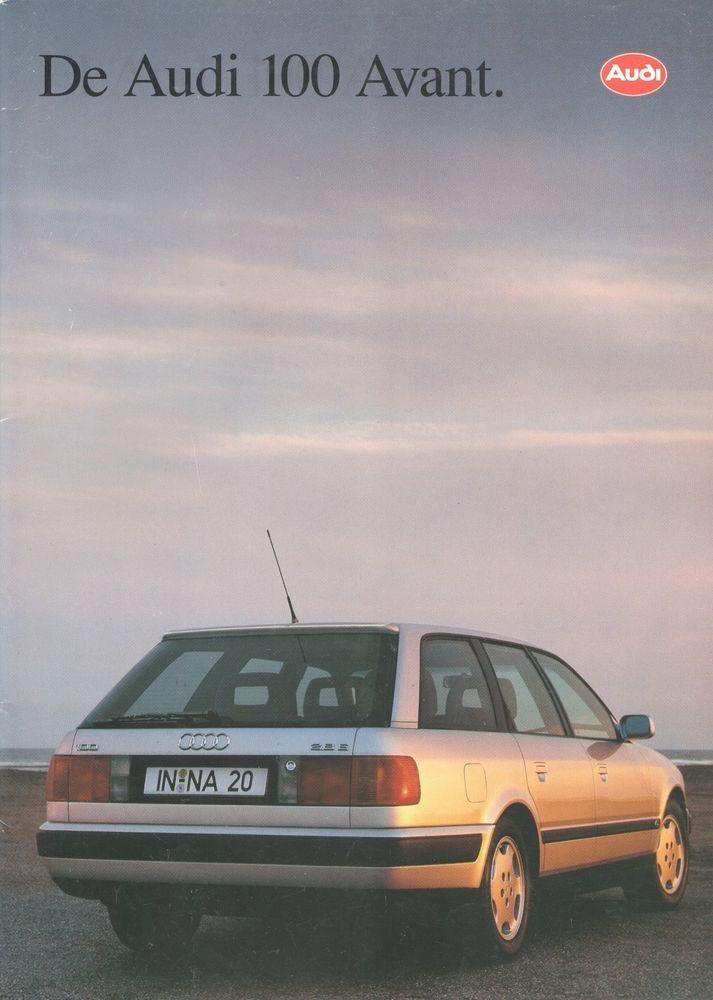 AUDI - 100 Avant full brochure/folder Dutch 1992
